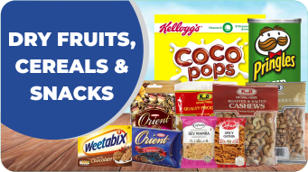 Dry Fruits, Cereals & Snacks