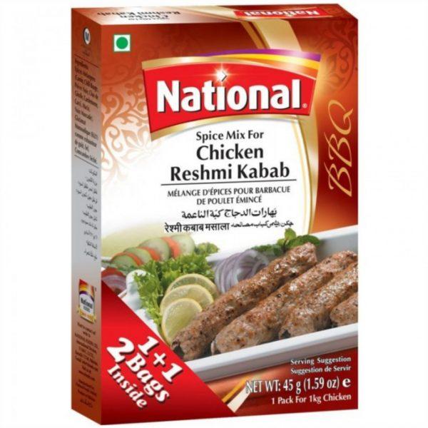 National Chicken Reshmi Kabab 45g