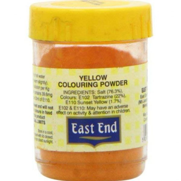 East End Yellow Colouring Powder 25g